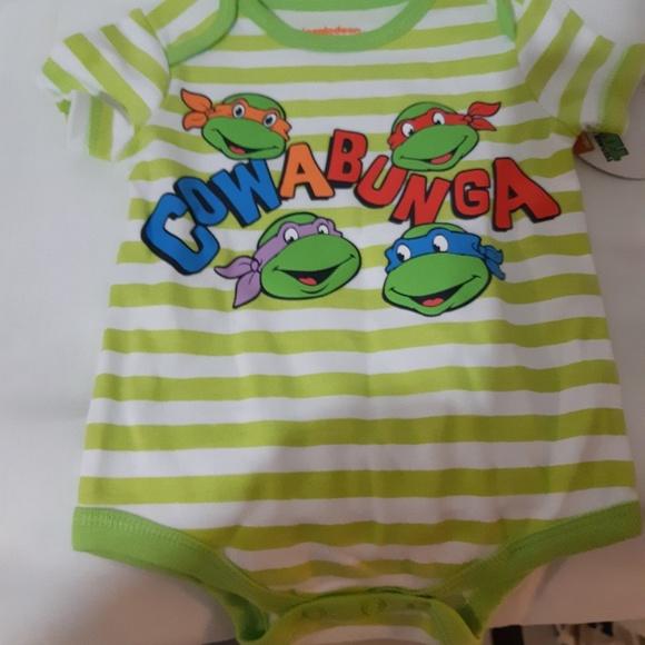 Baby Teenage Mutant Ninja Turtles Cowabunga body suit size Newborn NWT TMNT